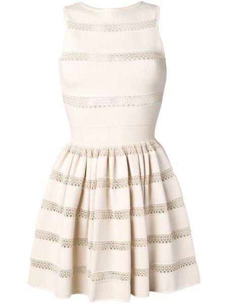 Расклешенное ажурное платье винтажное без рукавов Alaïa Pre-owned