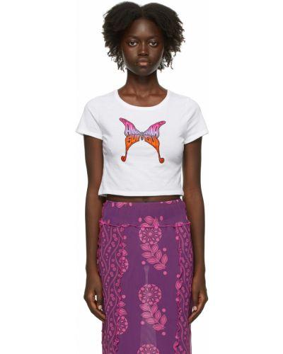 Белая трикотажная футболка Anna Sui