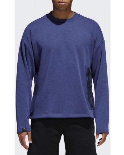 Синяя толстовка Adidas