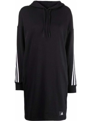 Платье макси с длинными рукавами - черное Adidas