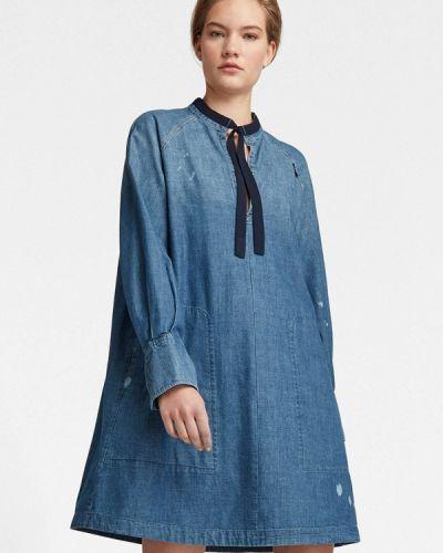 Синее джинсовое платье G-star