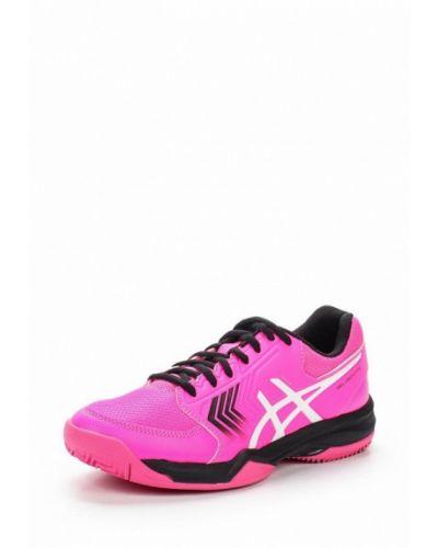 Розовые кожаные кроссовки Asics