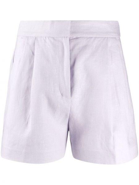 Однобортные фиолетовые шорты с карманами Michael Michael Kors