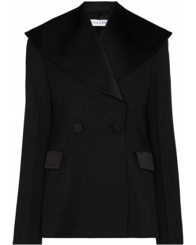 Шерстяной черный пиджак с воротником Jw Anderson