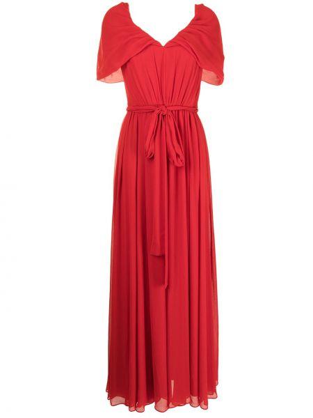 Платье мини короткое - красное Badgley Mischka