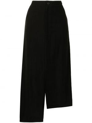 Czarna spódnica asymetryczna Yohji Yamamoto
