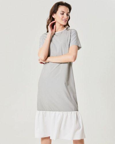 Платье серое футболка Lavlan