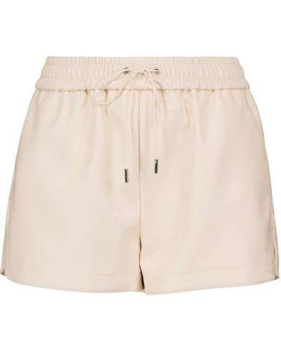Белые кожаные шорты Frankie Shop