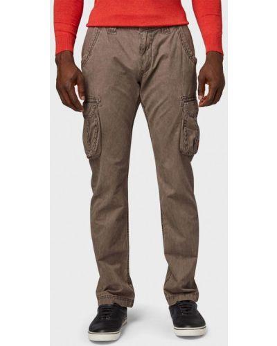 Коричневые брюки повседневные Tom Tailor