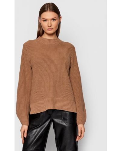 Sweter - brązowy Selected Femme