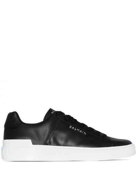 Черные кроссовки на каблуке Balmain