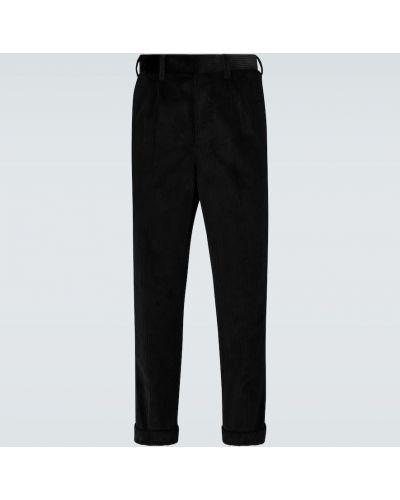 Czarne spodnie sztruksowe Ami