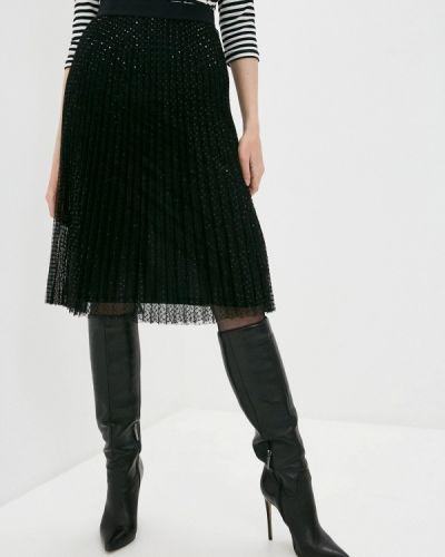 Черная юбка свободного кроя Iblues