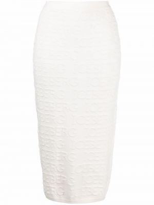 Хлопковая юбка макси - белая Iceberg