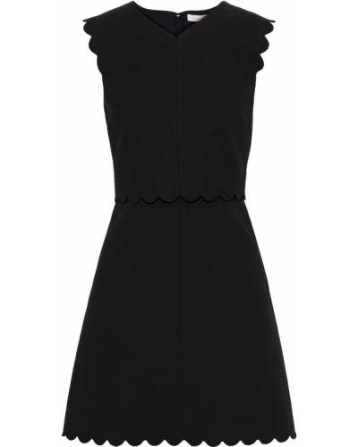 Czarna sukienka mini z wiskozy Rebecca Taylor