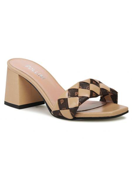 Beżowe sandały na lato Pollini