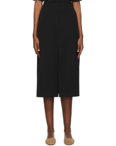 Шерстяная черная юбка с карманами Studio Nicholson