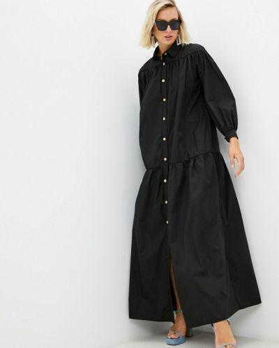 Платье рубашка - черное Chic De Femme
