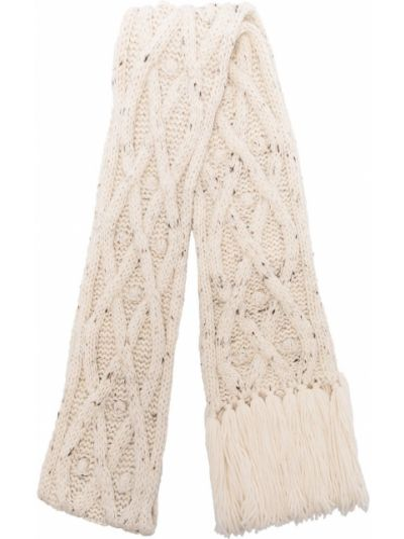 Beżowy wełniany szalik przycięte Isabel Marant