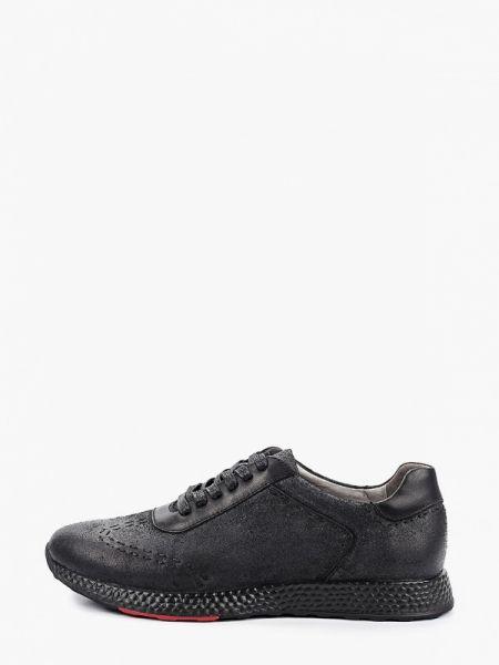 Велюровые черные кроссовки Mascotte