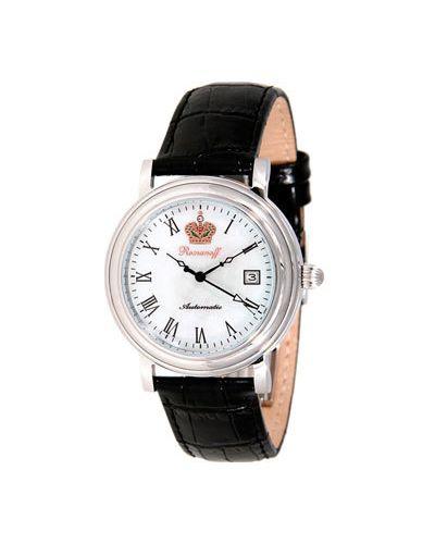 Часы механические водонепроницаемые с кожаным ремешком Romanoff