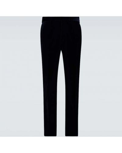 Ватные хлопковые синие классические брюки Ralph Lauren Purple Label