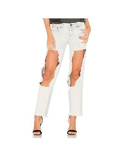Прямые джинсы с карманами рваные One Teaspoon