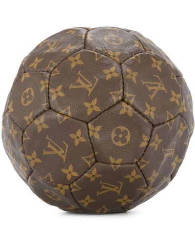 Коричневая кожаная сумка круглая Louis Vuitton