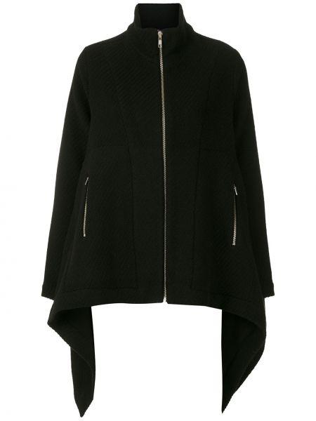 Черная акриловая длинная куртка на молнии Uma   Raquel Davidowicz