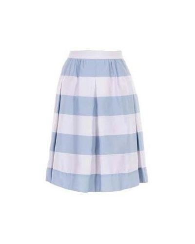 Голубая юбка миди Moschino Cheapandchic