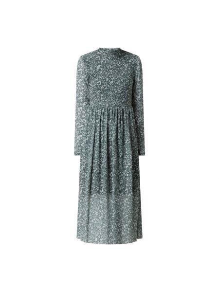 Sukienka rozkloszowana z długimi rękawami - niebieska Tom Tailor Denim