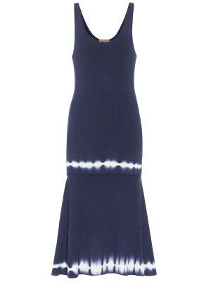 Niebieska sukienka midi bawełniana do biegania Altuzarra
