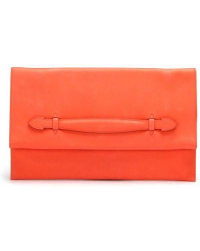 Kopertówka skórzana - pomarańczowa Hermès Vintage