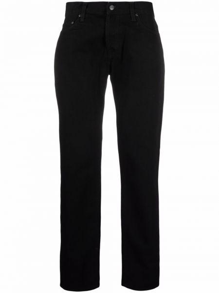 Черные хлопковые джинсы Carhartt Wip