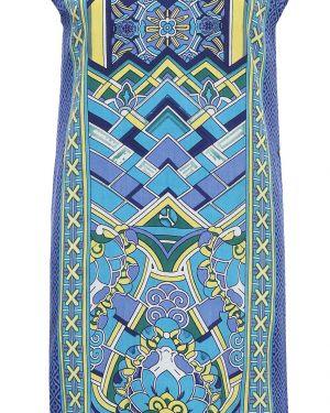 Платье из вискозы синее Finn Flare