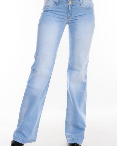 Джинсы клеш расклешенные - голубые Omat
