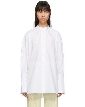 Белая рубашка с воротником с манжетами с длинными рукавами Studio Nicholson