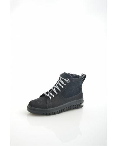 Зимние ботинки черные из нубука Hcs