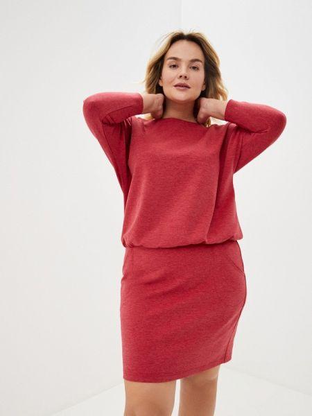 Платье прямое красный Lina