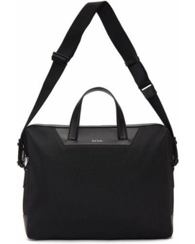 Черный кожаный портфель с карманами Paul Smith