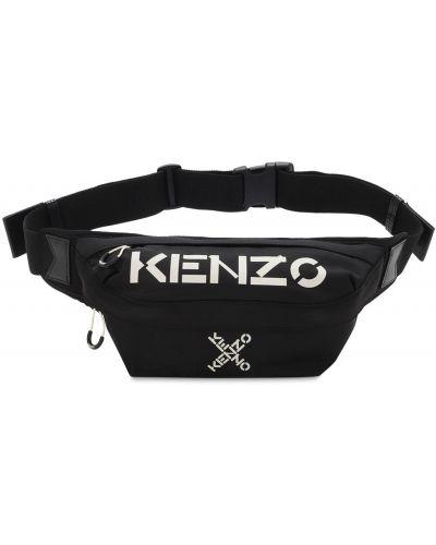 Кожаная поясная сумка на молнии с поясом Kenzo