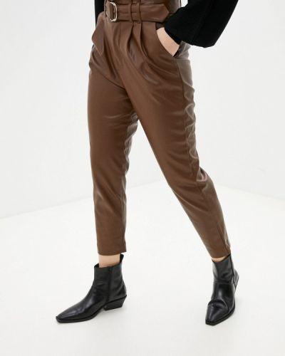 Кожаные коричневые брюки Softy