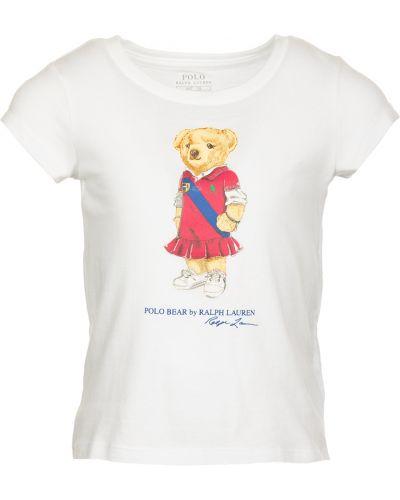 Biały t-shirt Ralph Lauren