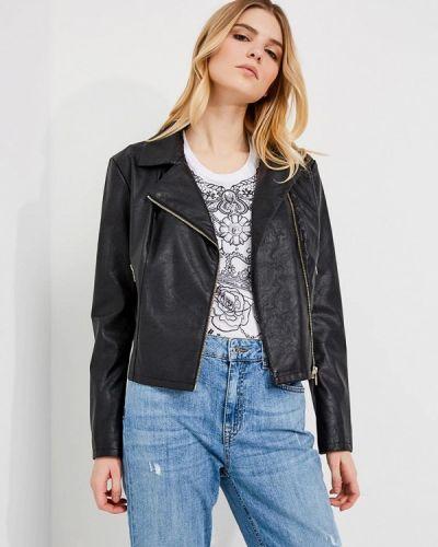 Кожаная куртка весенняя черная Liu Jo Jeans