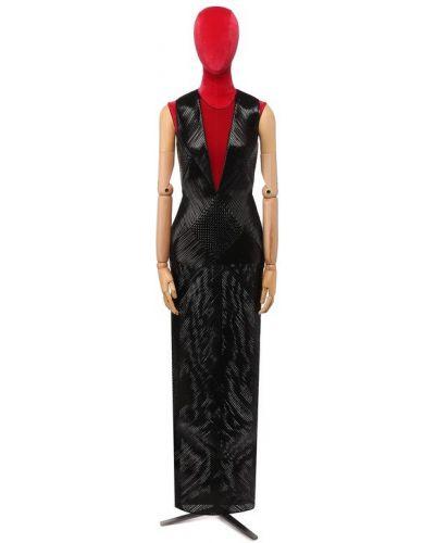 Платье шелковое кожаное Tom Ford