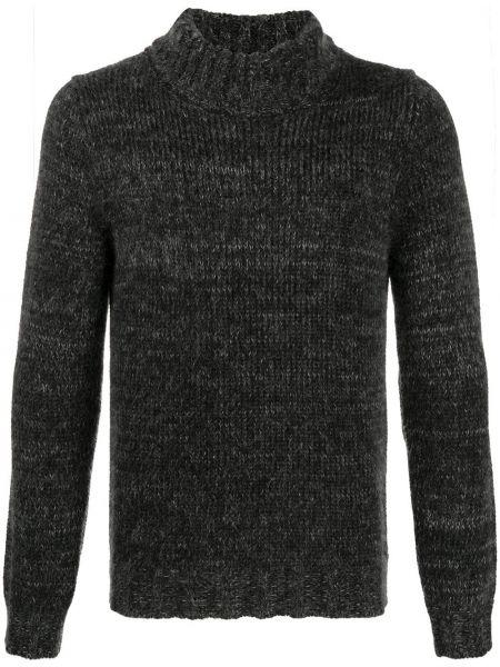 С рукавами черный свитер из мохера Cenere Gb