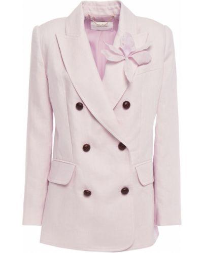 Розовый пиджак двубортный с карманами Zimmermann
