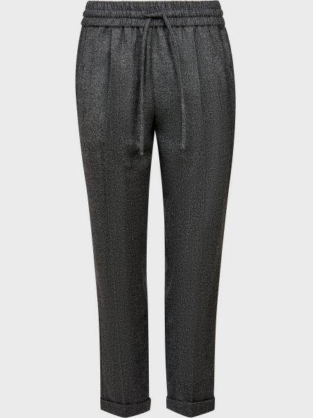 Шерстяные серые брюки Kiton