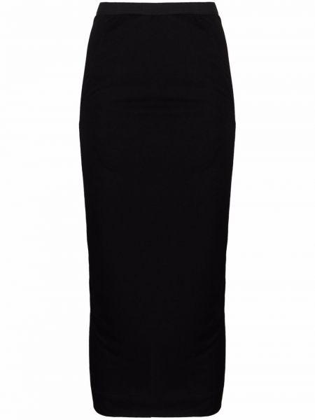 Хлопковая черная юбка карандаш Rick Owens Lilies