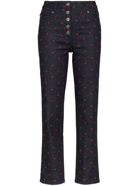 Укороченные брюки с вышивкой с поясом Miaou